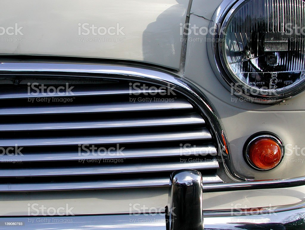 mini cooper s front detail royalty-free stock photo