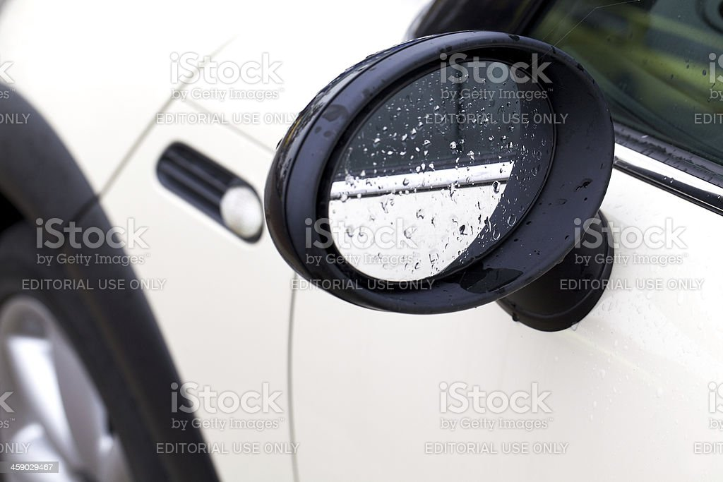 Mini cooper side mirror royalty-free stock photo