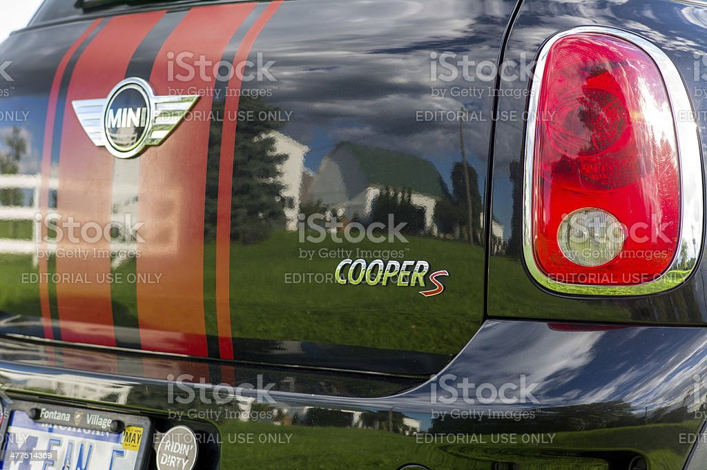 Mini Countryman on the farm royalty-free stock photo