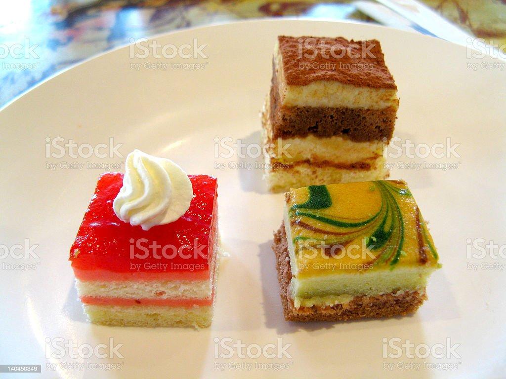Mini Desserts royalty-free stock photo