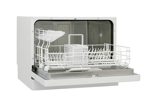 mini dishwasher - commercial dishwasher stock photos and pictures