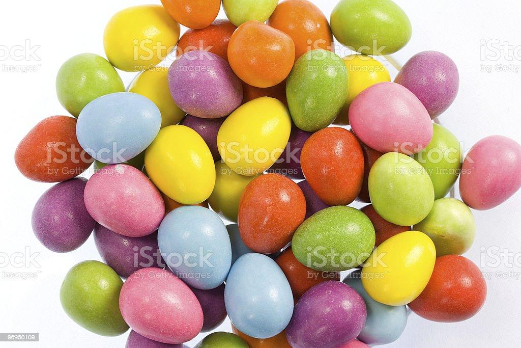 Mini Easter eggs on white royalty-free stock photo