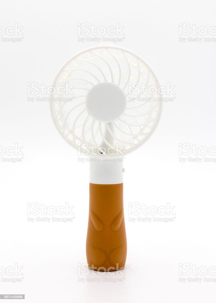 mini electric fan stock photo