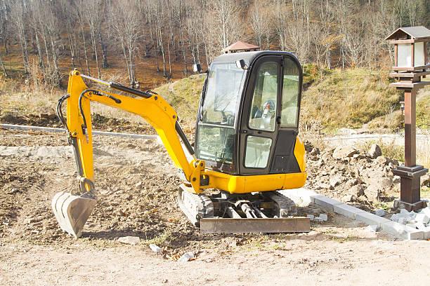 mini excavator - excavator bildbanksfoton och bilder