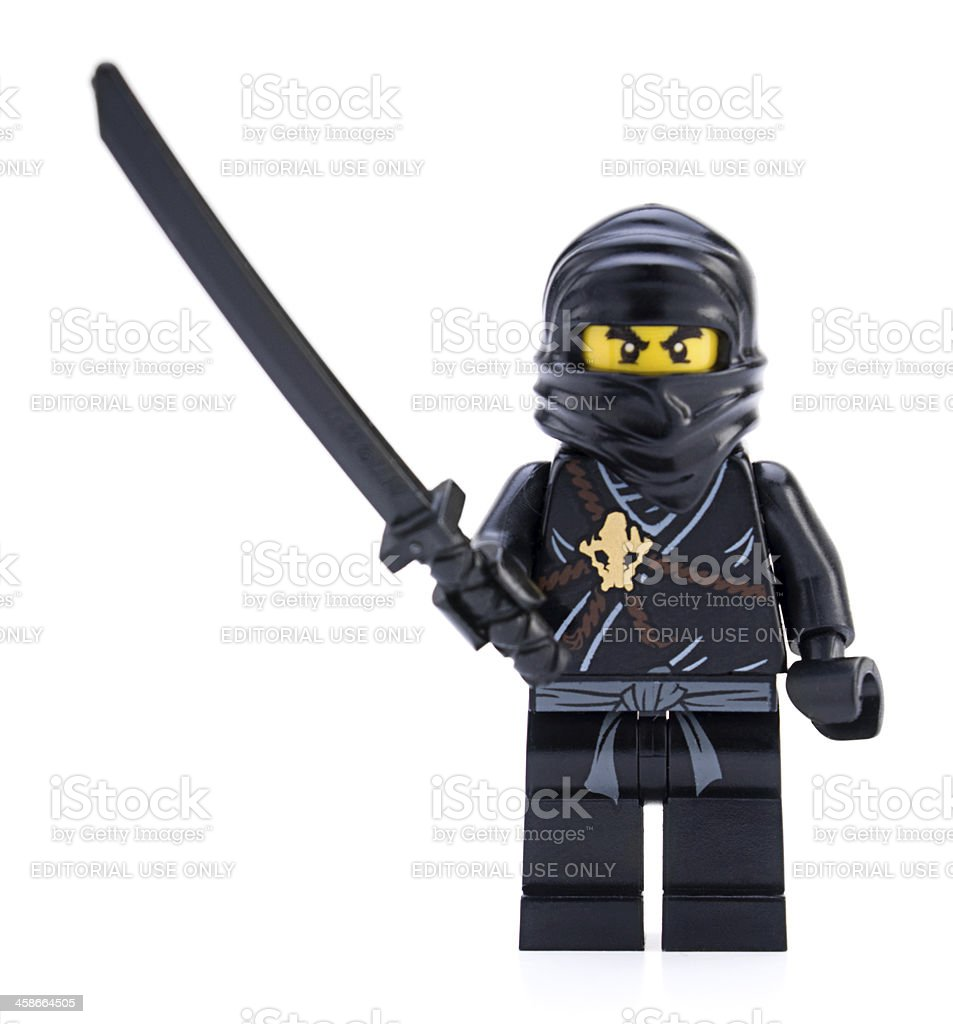 LEGO Mini figure - Ninja stock photo