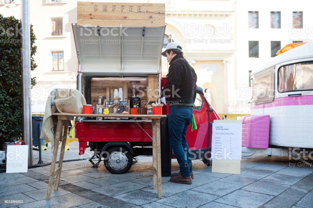 Mini food truck cafeteria - foto stock