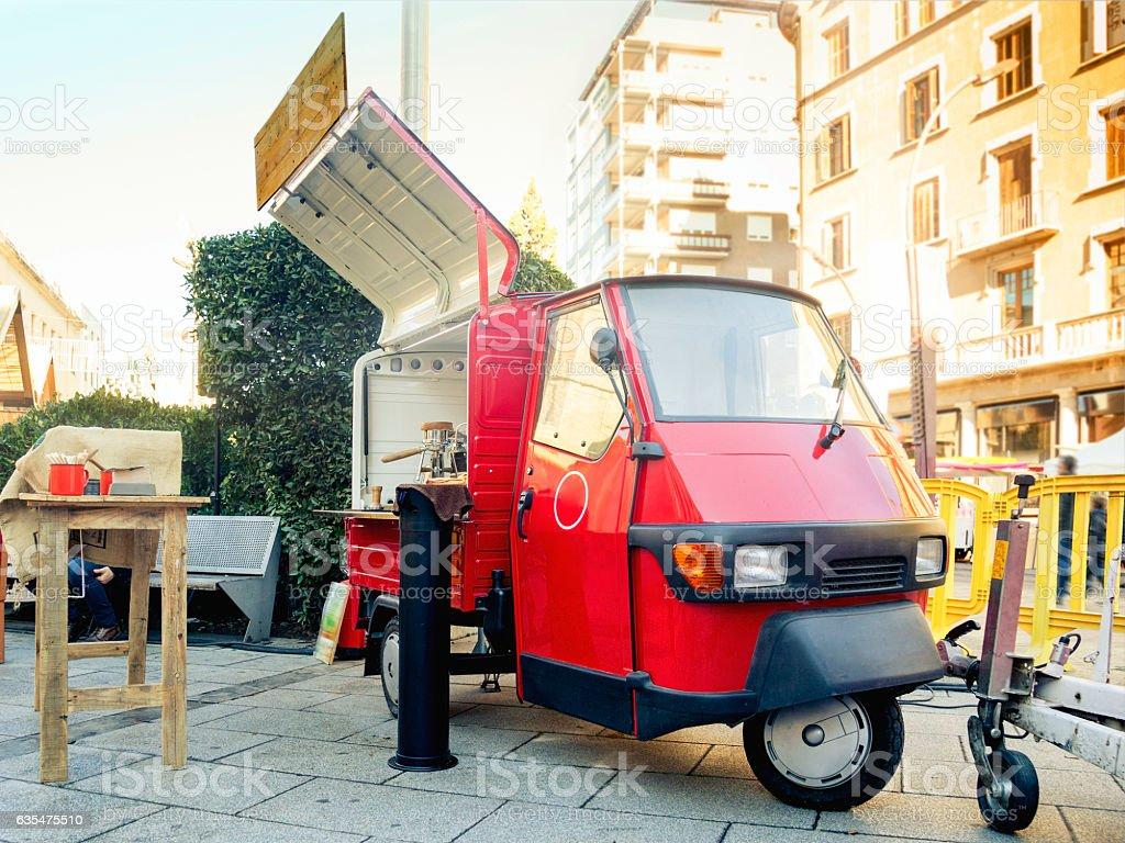 Mini food truck - foto stock