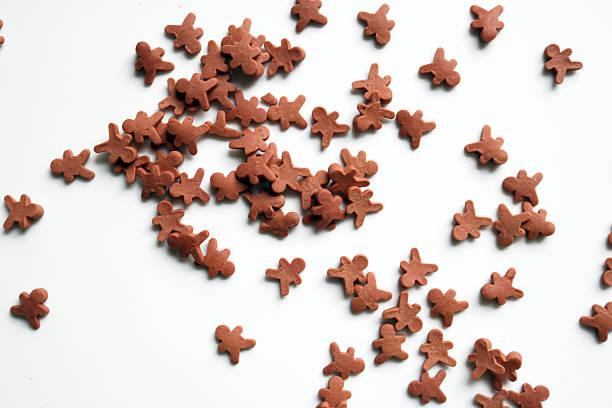 Mini Gingerbread Men stock photo