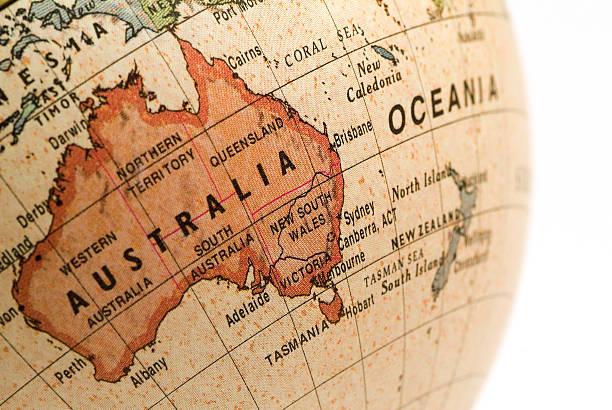 Mini Globe Australia, New South Wales stock photo
