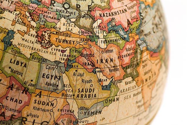 mini mondo medio oriente - medio oriente foto e immagini stock