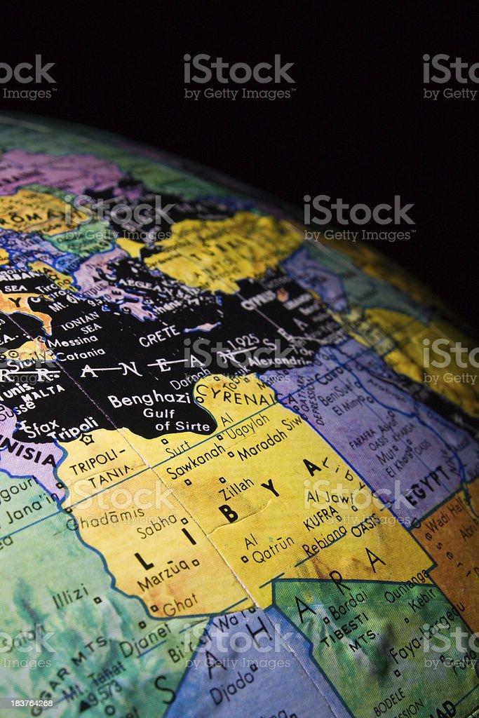 Mini Globe Middle Eastlibya Stock Download Image Now