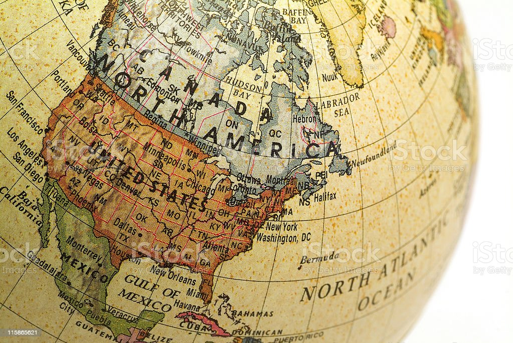 Mini Globe North America02 royalty-free stock photo