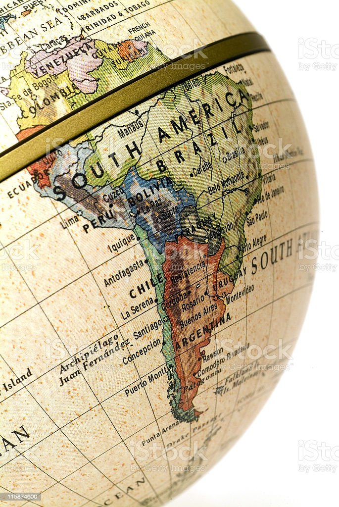 Mini Globe South America Stock Photo IStock - Argentina globe map