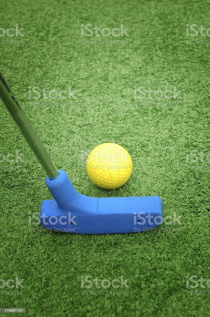 mini golf royalty-free stock photo