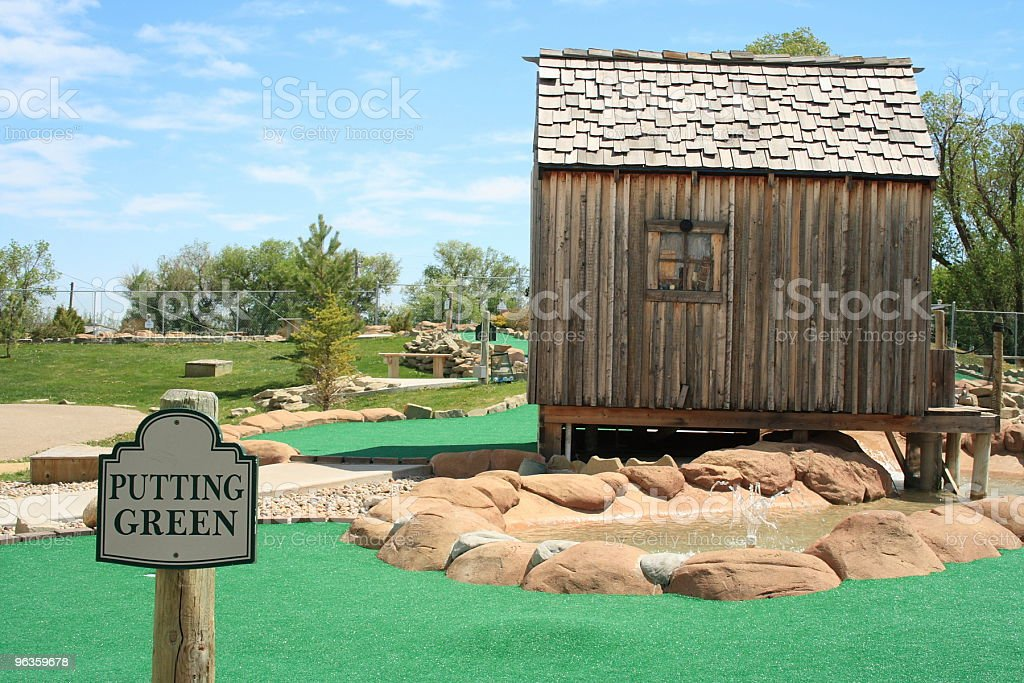 mini golf putting green royalty-free stock photo