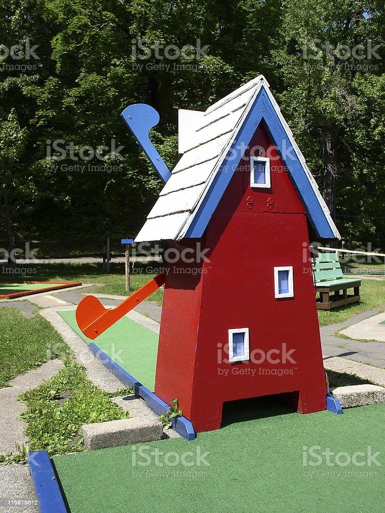 Mini Golf Windmill royalty-free stock photo