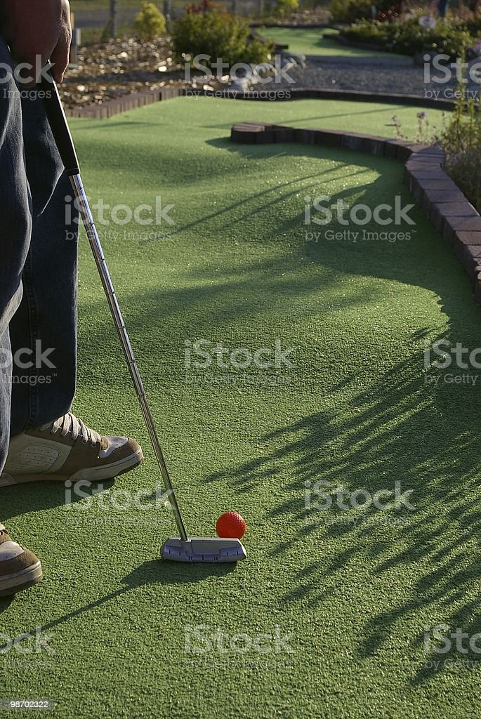Mini golf foto stock royalty-free