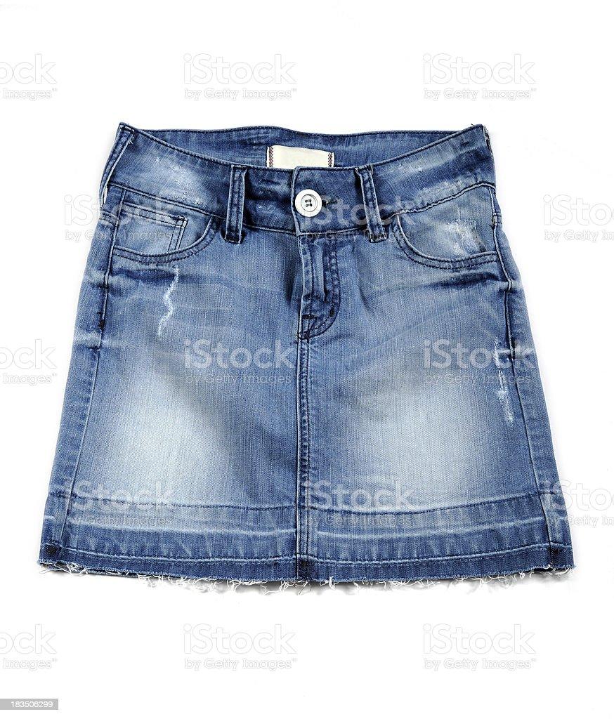 Mini Jean Skirt stock photo
