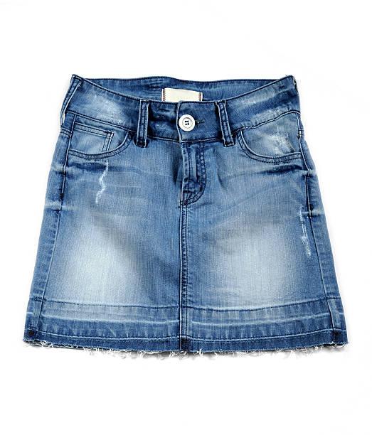 mini jean spódnica - spódnica zdjęcia i obrazy z banku zdjęć