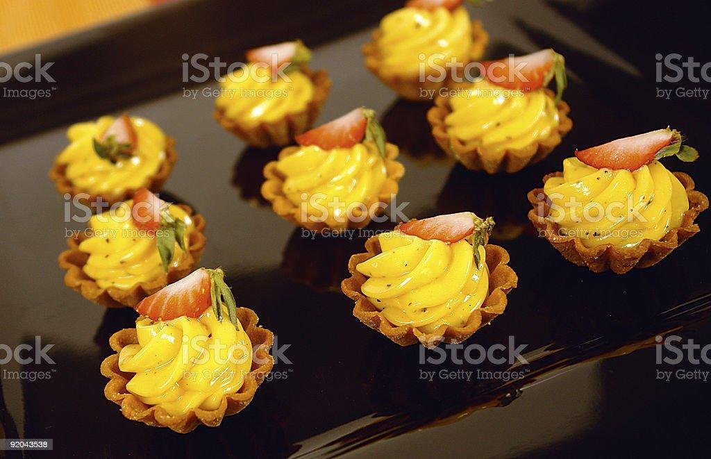 Mini lemon tarts stock photo