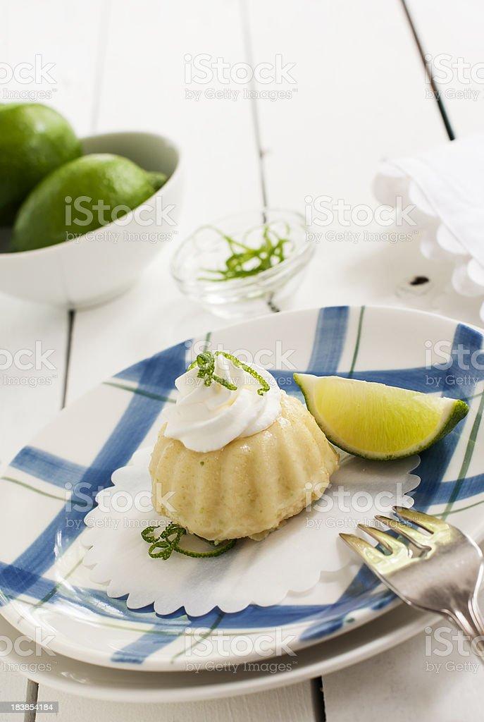 Mini Lime Bundt Cake on an Angle stock photo