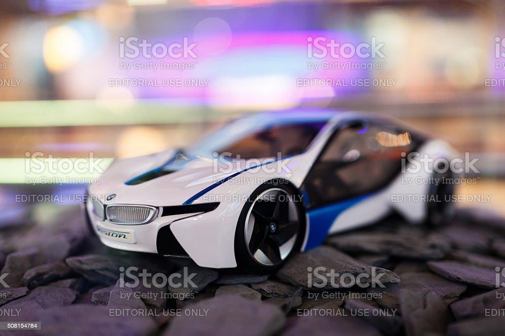 Mini modelo BMW i8 - foto de stock