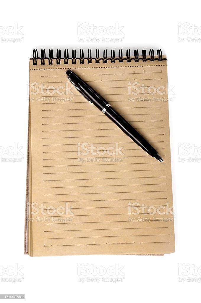 Mini notepad with pen royalty-free stock photo