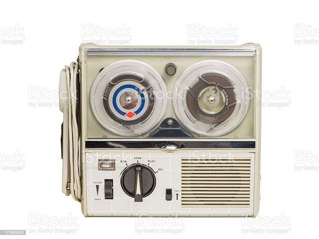 Mini Old Tape Recorder 02 royalty-free stock photo
