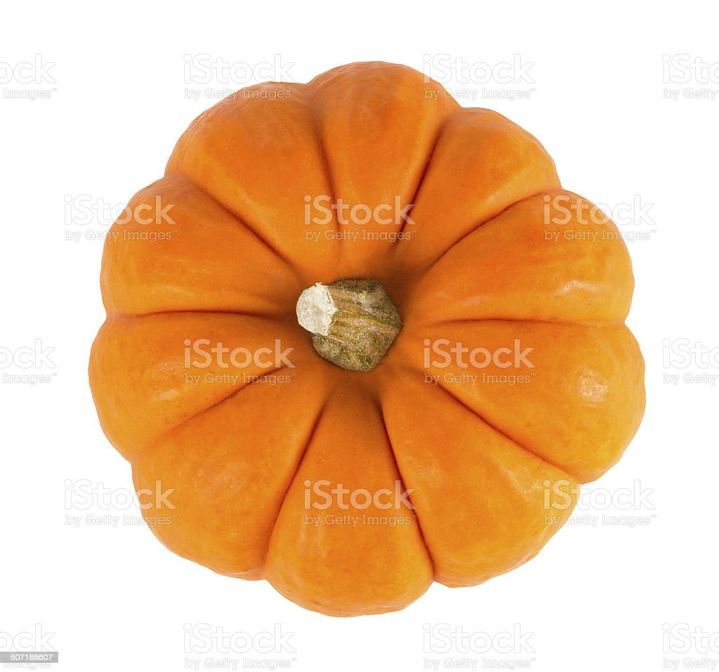 Mini Orange Pumpkin Isolated on White