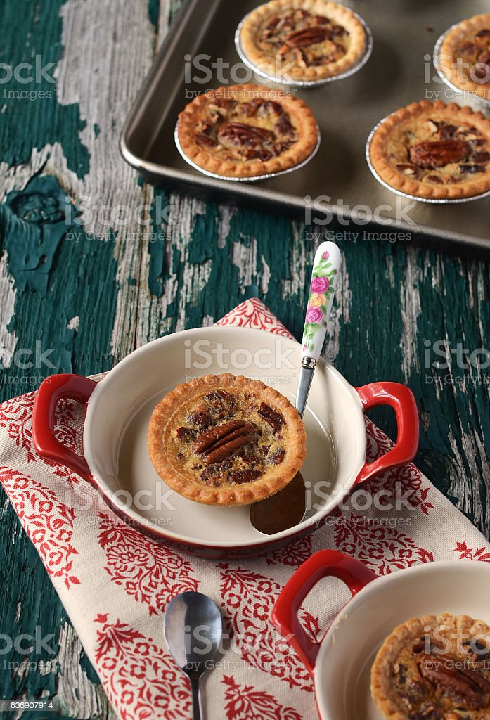 Mini Pecan Tart stock photo
