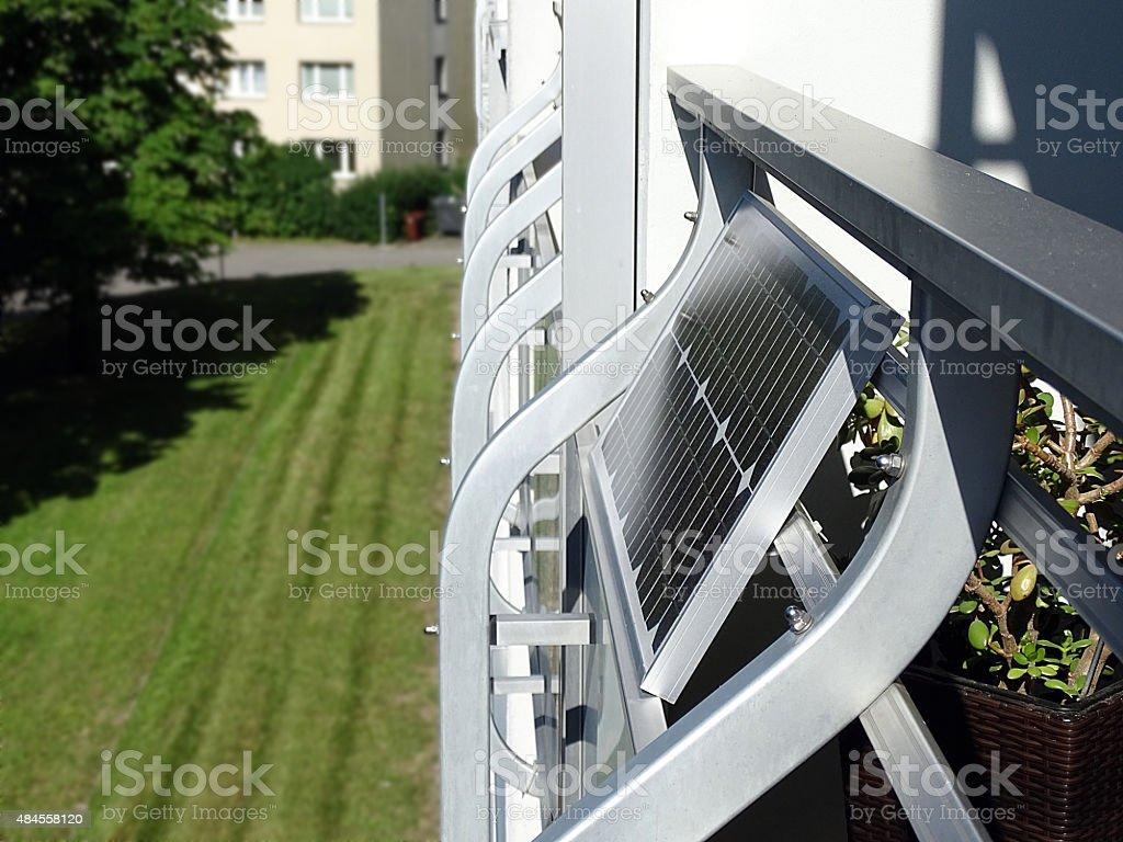 Mini photovoltaic system stock photo