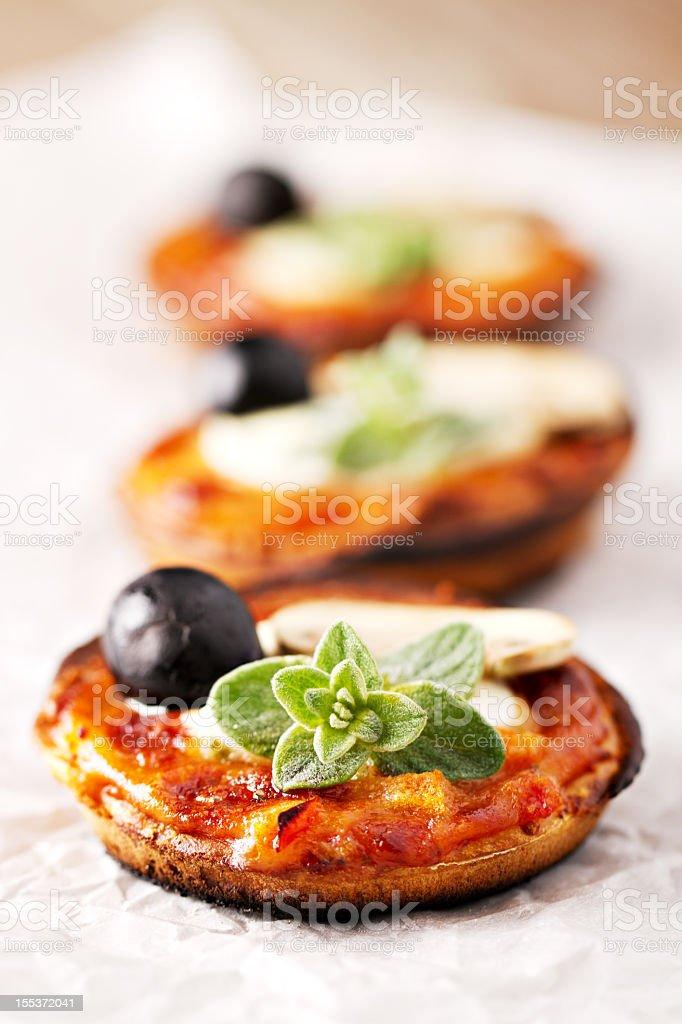 Mini pizza royalty-free stock photo