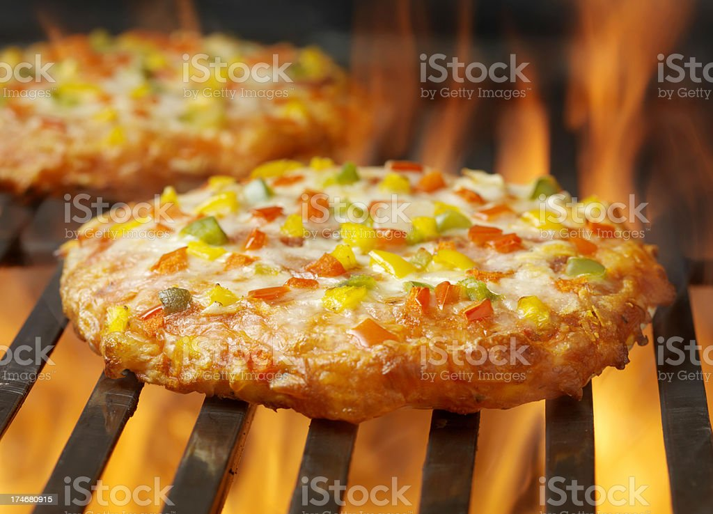 BBQ Mini Pizzas royalty-free stock photo