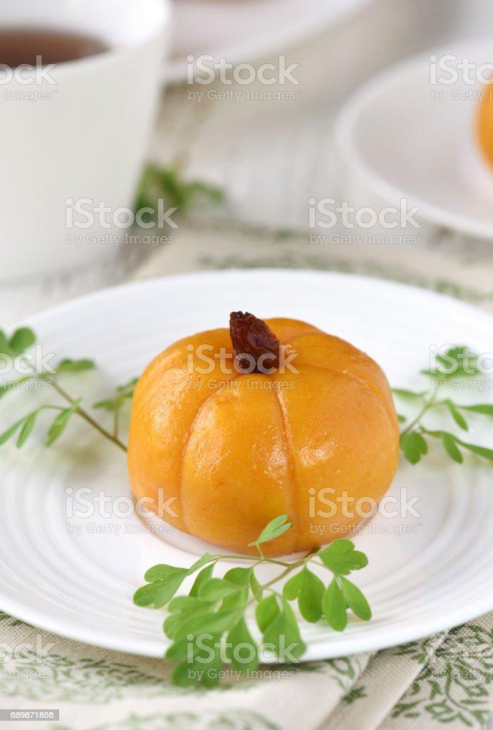 Mini Pumpkin Rice Cake stock photo