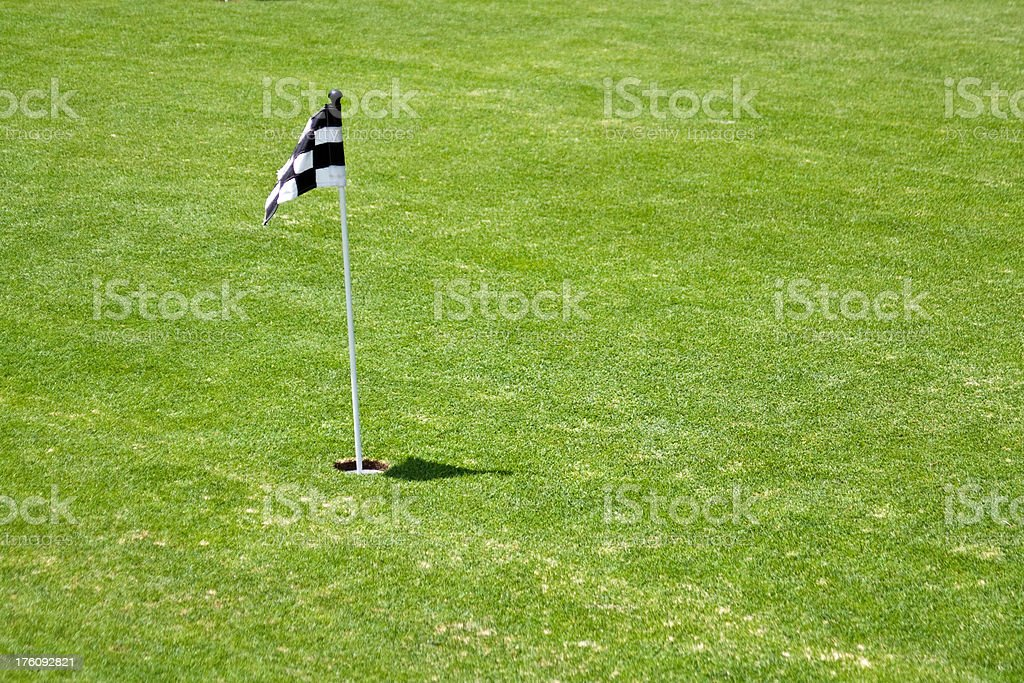 Mini Putting Green Flag royalty-free stock photo