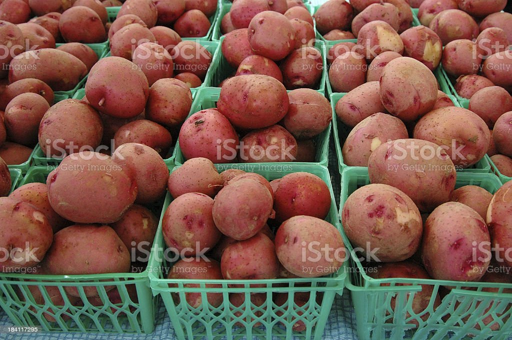 Mini Red Potatoes for Sale stock photo