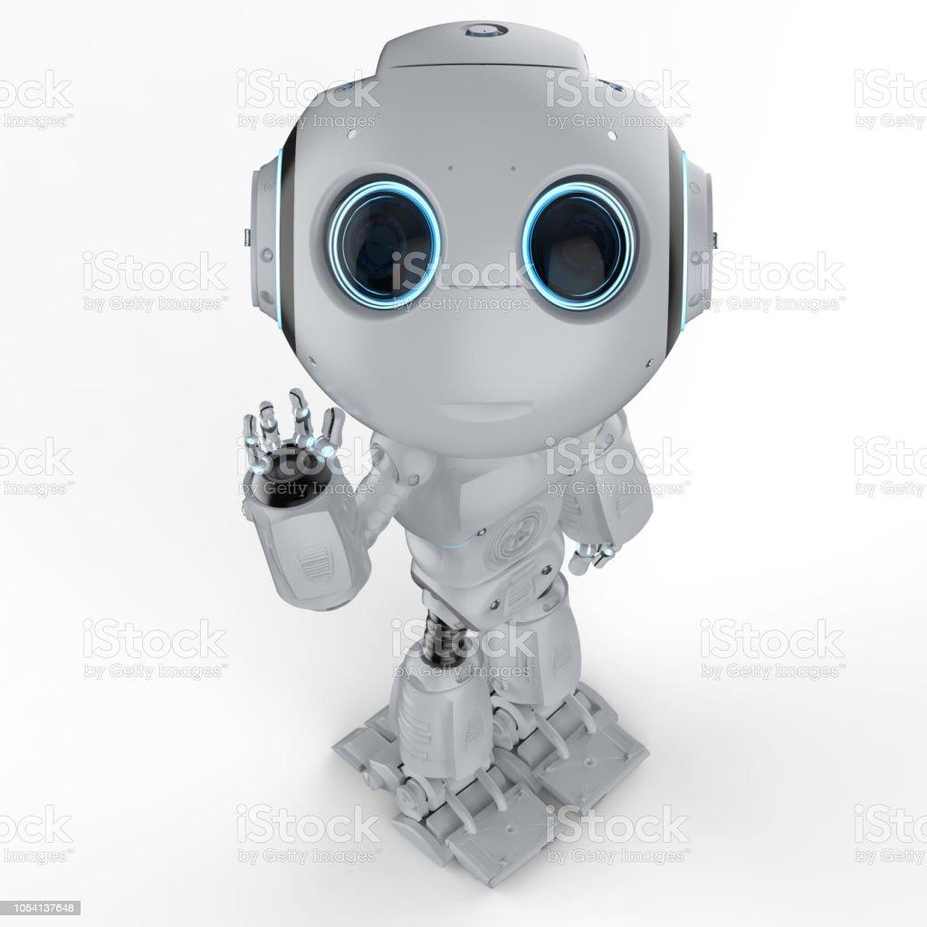 최대 미니 로봇 손 스톡 사진
