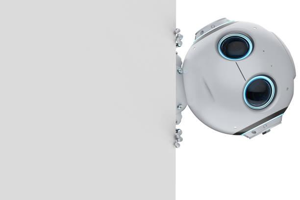 mini robot con vacío nota - robot fotografías e imágenes de stock