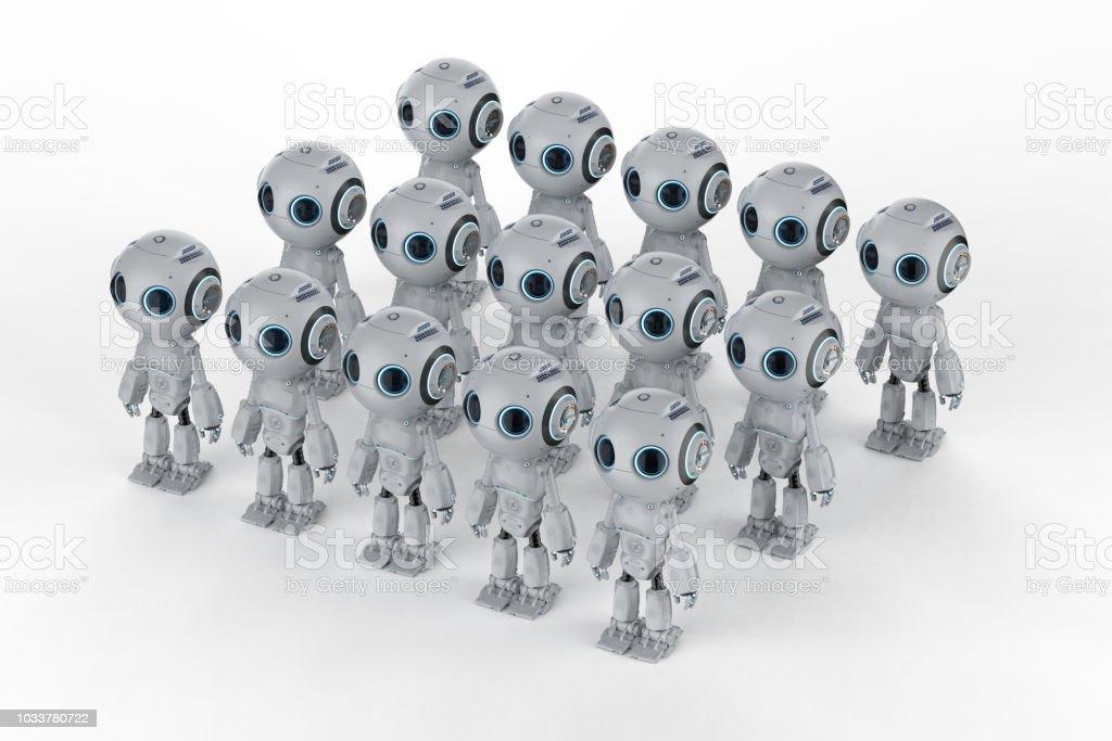 미니 로봇 조립 스톡 사진