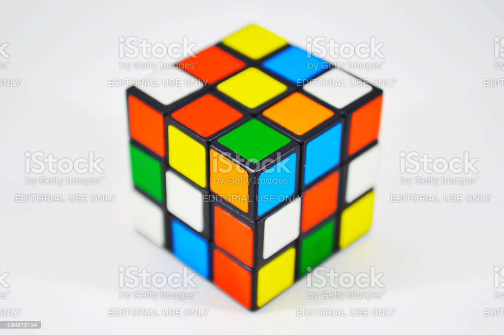 Mini Rubik's cube royalty-free stock photo
