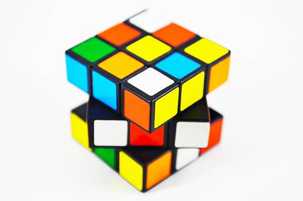 Mini Rubik's cube stock photo