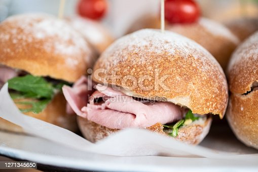 small meat sandwiches