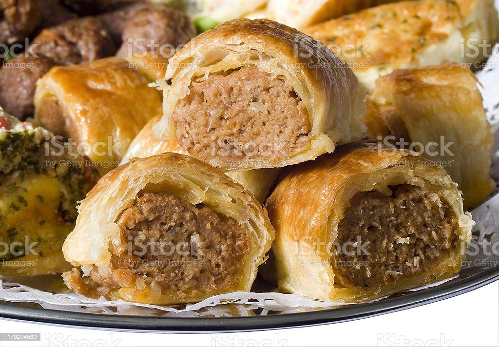 Mini Sausage Rolls stock photo