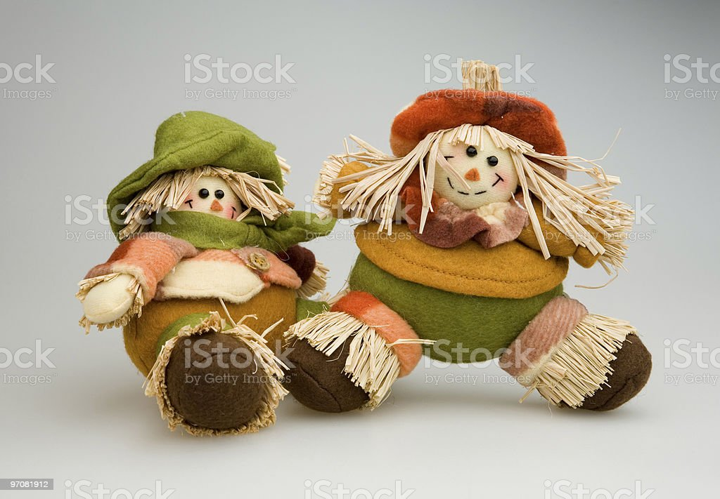 Mini Scarecrow royalty-free stock photo