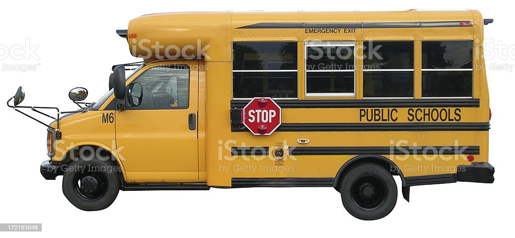 Mini school bus with clipping path royalty-free stock photo