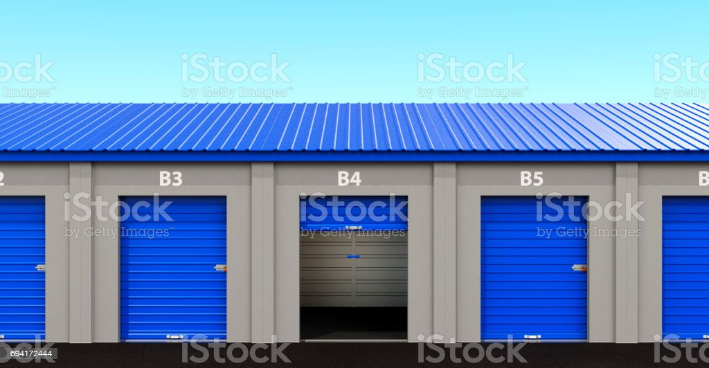 Mini Self Storage Rental Units stock photo