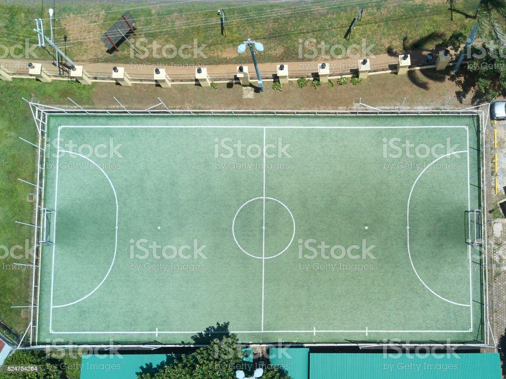 Mini soccer field stock photo