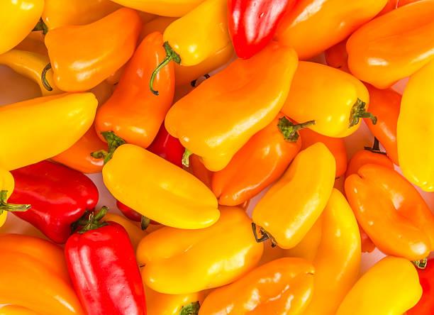 Mini Sweet Peppers stock photo