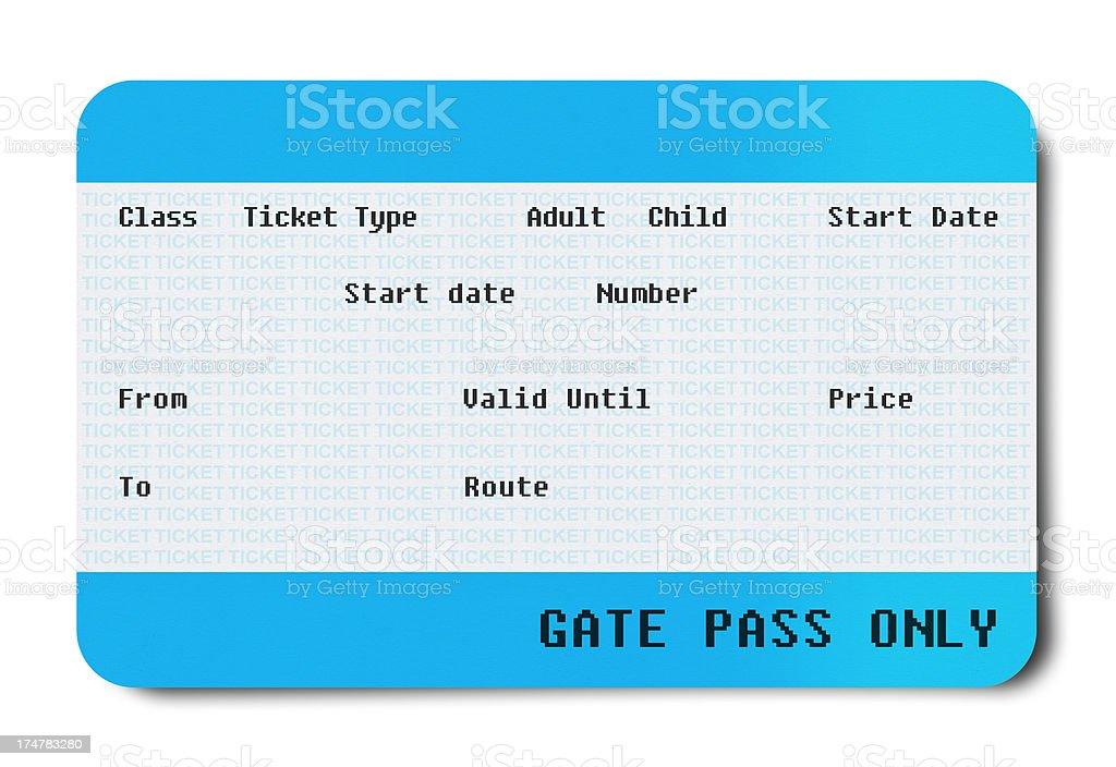 Mini Ticket (Clipping Path ) stock photo