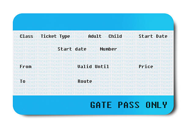 Mini Ticket (Clipping Path )  train ticket stock pictures, royalty-free photos & images